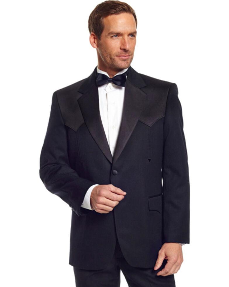 Circle S Long Tuxedo Coat - Reg, Tall, Black, hi-res