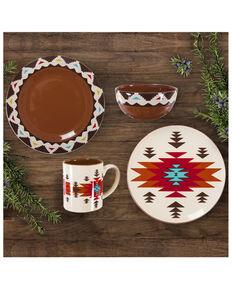 HiEnd Accents Del Sol 16pc Ceramic Dinnerware Set, Red, hi-res