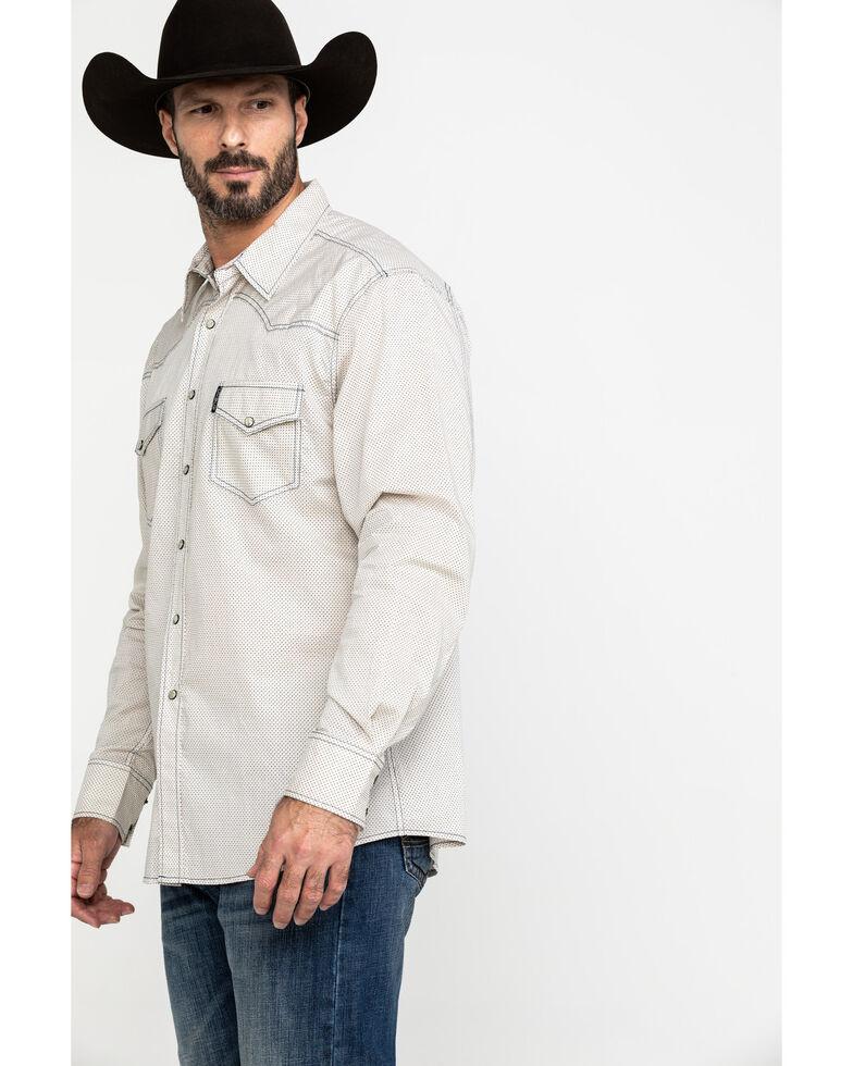 Cinch Men's Modern Multi Diamond Geo Print Long Sleeve Western Shirt , Purple, hi-res
