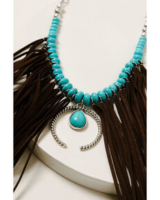 Idyllwind Women's Fringe Me Down Turquoise Necklace, Silver, hi-res