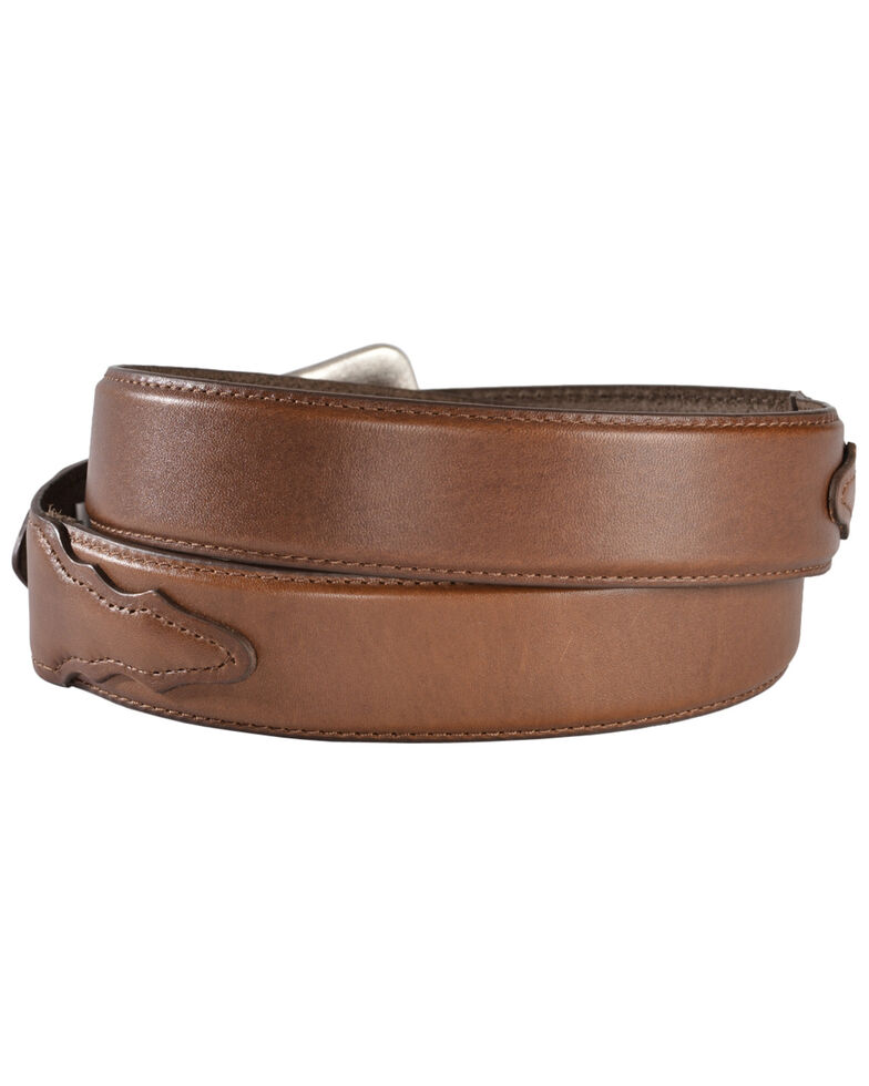 Nocona Basic Leather Belt, Brown, hi-res