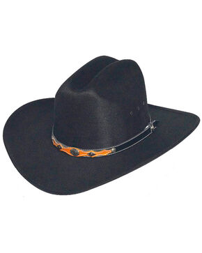 Western Express Youth Black Faux Felt Hat , Black, hi-res