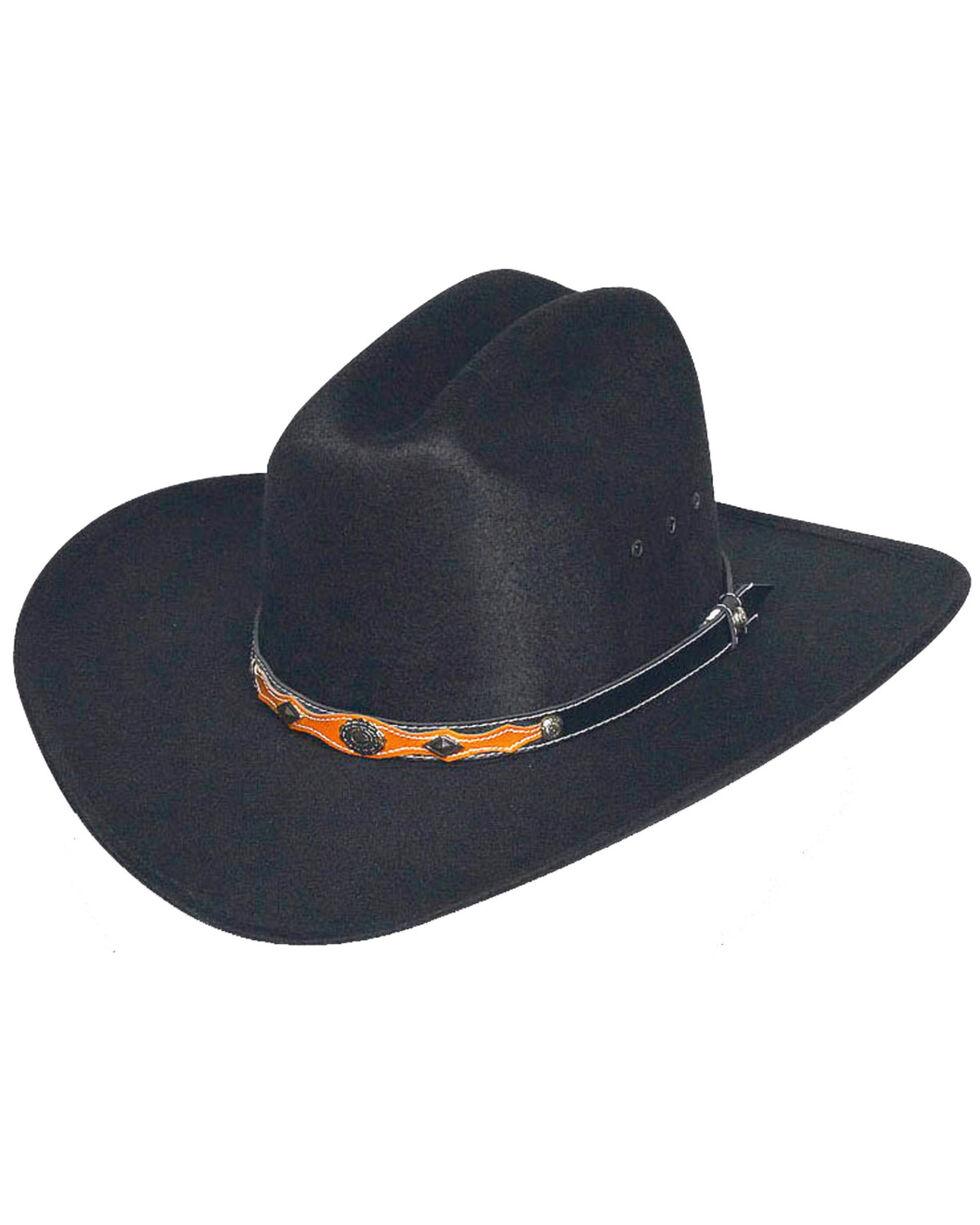 Western Express Men's Black Faux Felt Cowboy Hat , , hi-res