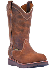 Dan Post Men's Sky Walker Western Work Boots - Steel Toe, Brown, hi-res