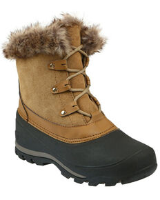 Northside Women's Fairfield Insulated Winter Snow Boots - Round Toe, Brown, hi-res