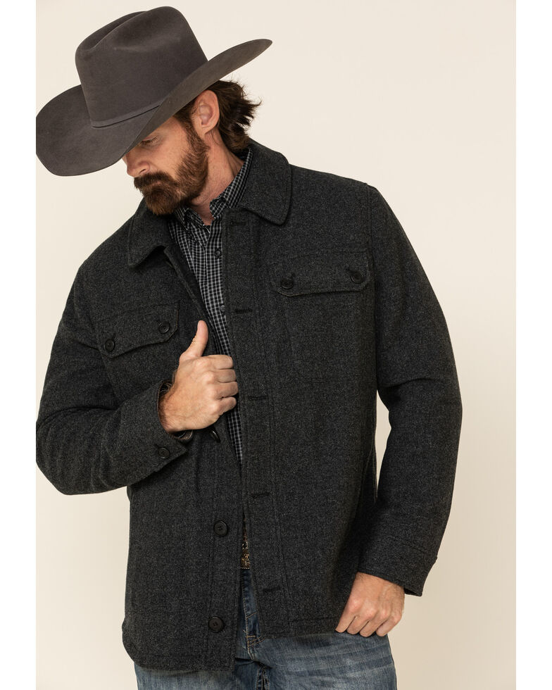 Pendleton Men's Ash Capitol Hill Button-Front Shirt Jacket , Ash, hi-res