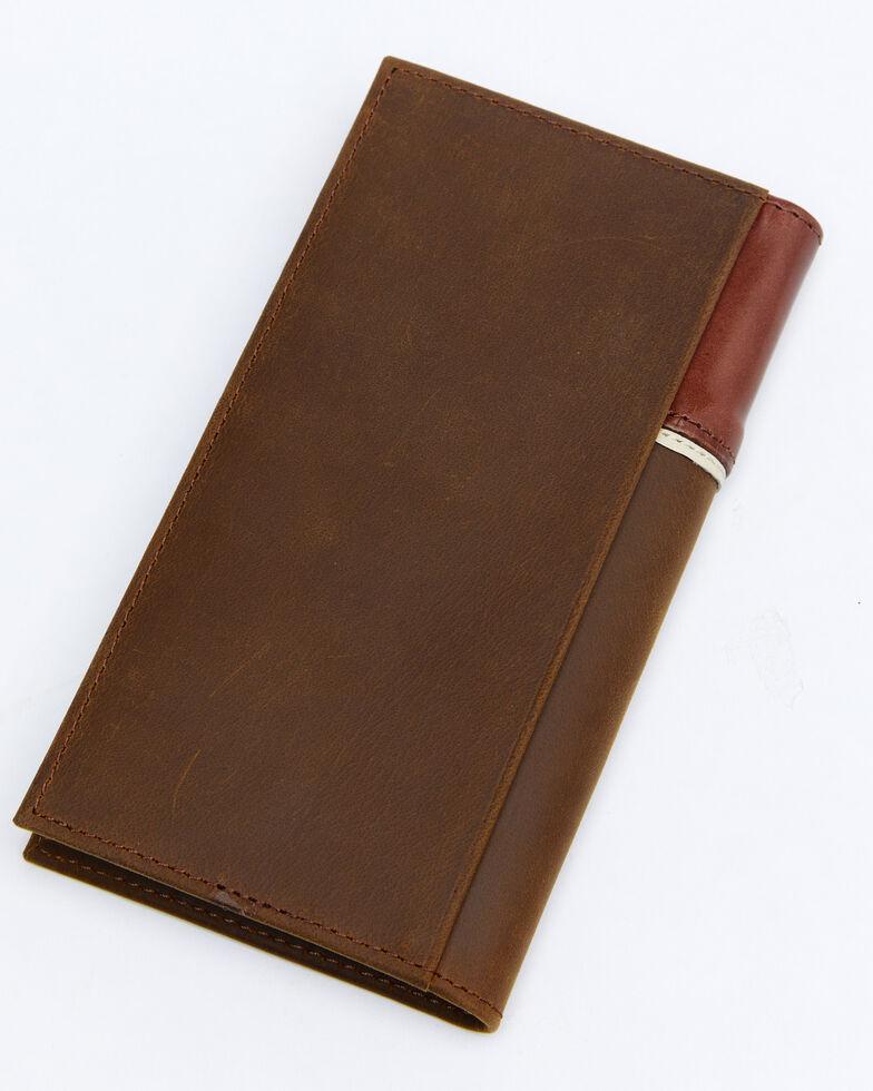 Cody James Men's Tooled Rodeo Wallet, Brown, hi-res
