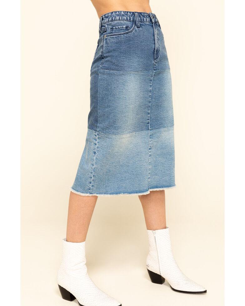 Billy T Women's Color Block Denim Skirt, Blue, hi-res