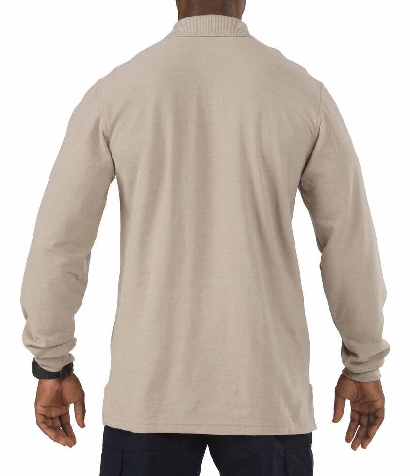 5.11 Tactical Utility Long Sleeve Polo Shirt - 3XL, Tan, hi-res
