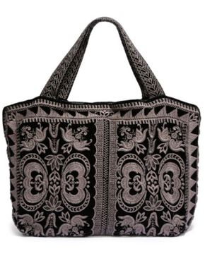 Johnny Was Women's Black Hirsch Velvet Tote, Black, hi-res
