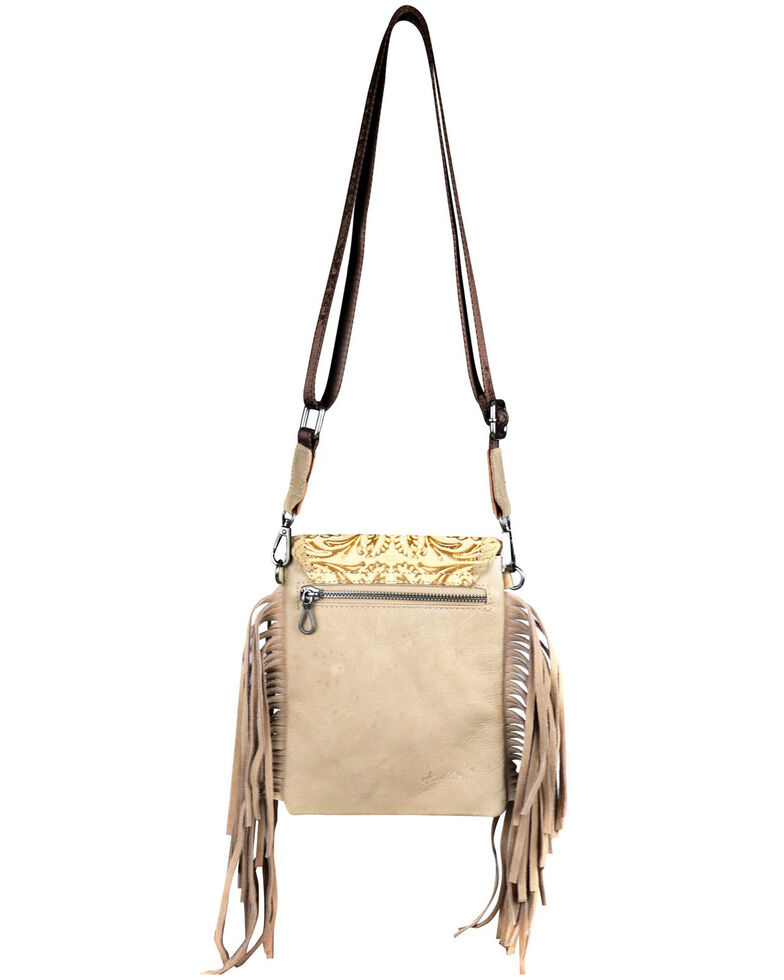 Montana West Women's Mabel Tooled Crossbody Bag, Tan, hi-res