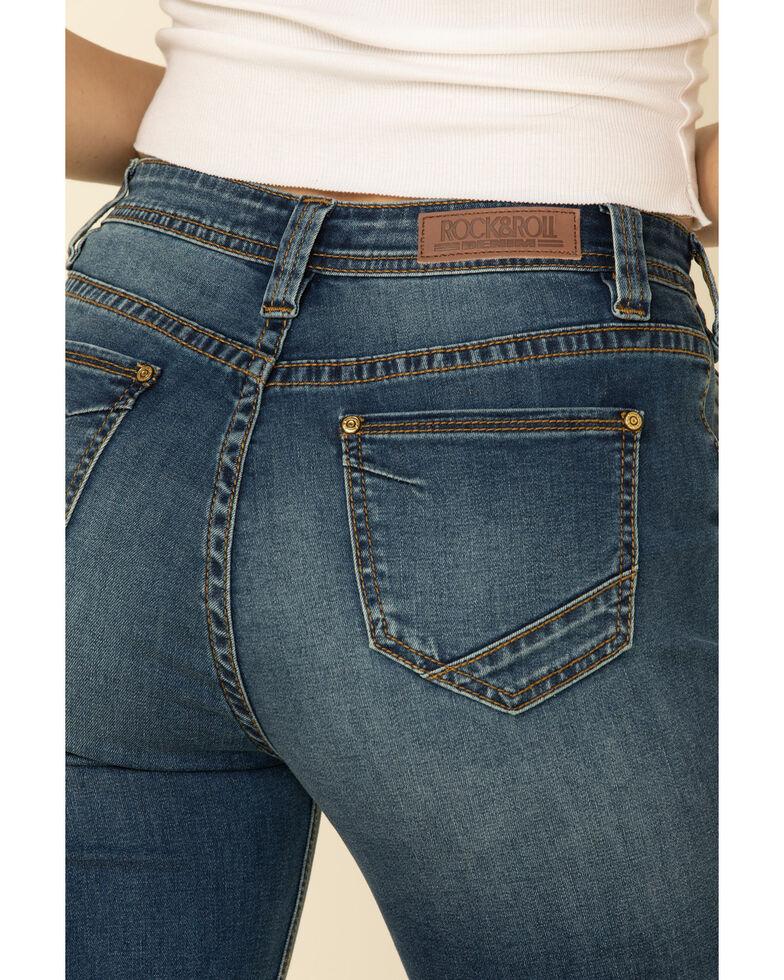 Rock & Roll Denim Women's Medium Wash High Rise Trouser Bootcut Jeans , Blue, hi-res