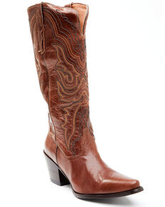 Dan Post Women's Chestnut Western Boots - Snip Toe, Chestnut, hi-res