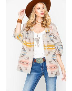 Pendleton Women's White Sands Kimono Coat , Tan, hi-res