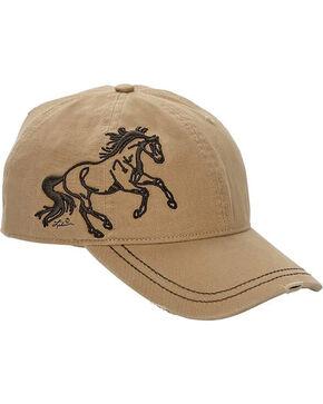 Western Express Women's Tan Horse Vintage Baseball Cap , Tan, hi-res