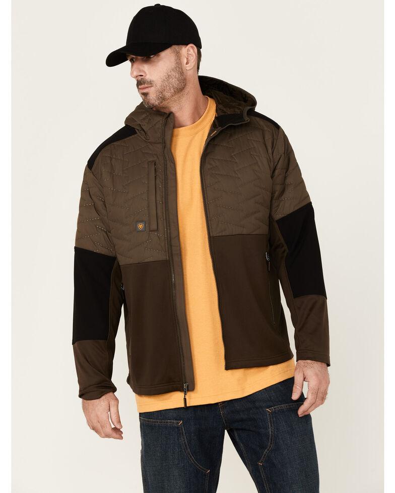Ariat Men's Rebar Wren Cloud 9 Insulated Zip-Front Work Jacket , Brown, hi-res