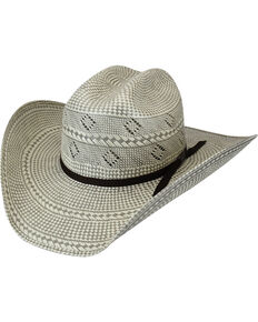 Bailey Men's Dade 20X Shantung Straw Western Hat, Grey, hi-res