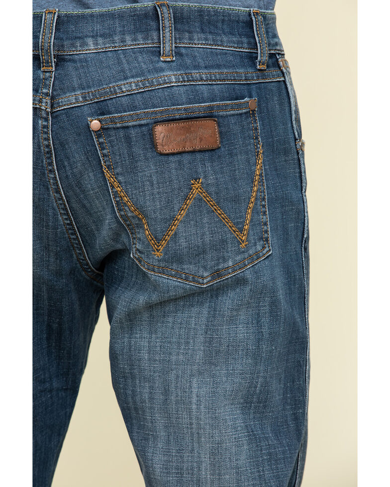 Wrangler Retro Men's Alpine Stretch Slim Straight Jeans , Blue, hi-res