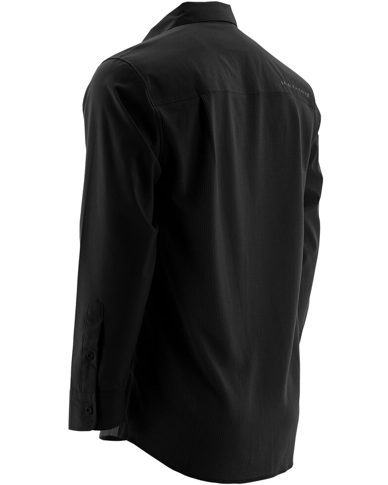 Huk Performance Fishing Men's Phenom Long Sleeve Shirt , Black, hi-res