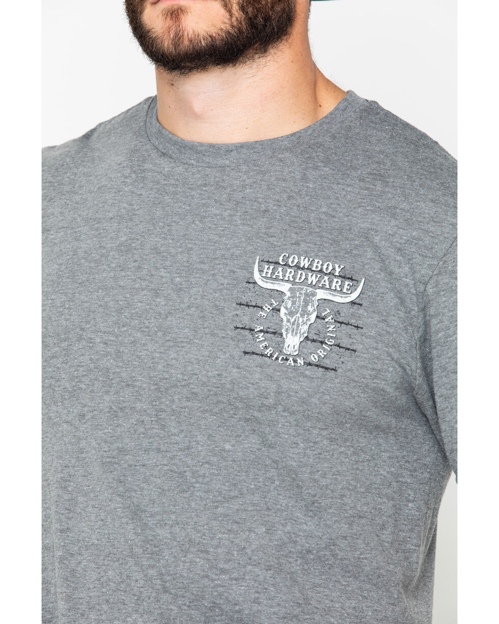 Cowboy Hardware Men's American Original Short Sleeve Tee , Dark Grey, hi-res