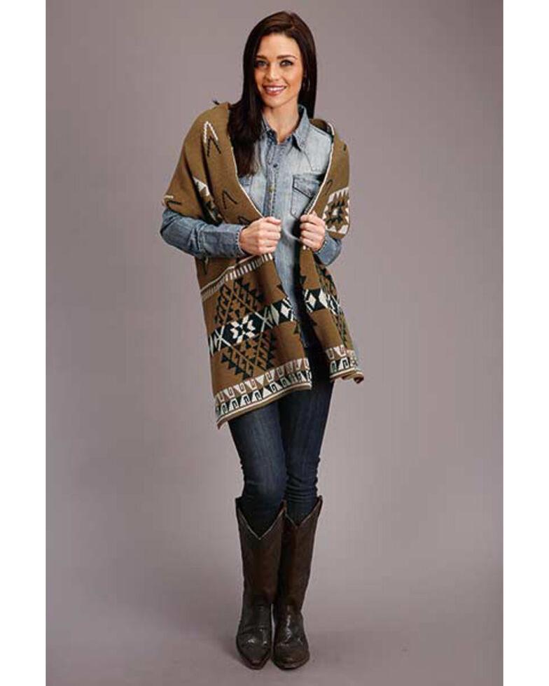 Stetson Women's Gold Aztec Knit Scarf, Gold, hi-res