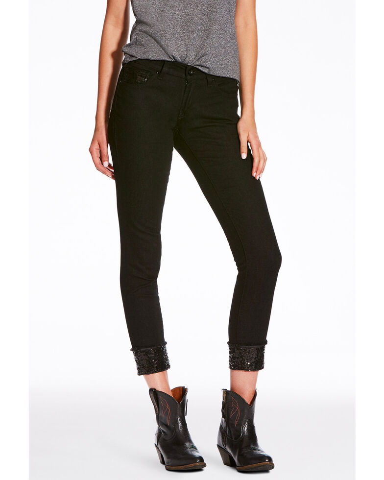 Ariat Women's Blackout Motion Ultra Stretch Skinny Jeans , Medium Blue, hi-res