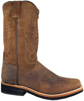 Smoky Mountain Men's Boonville Cowboy Boots - Square Toe, Brown, hi-res