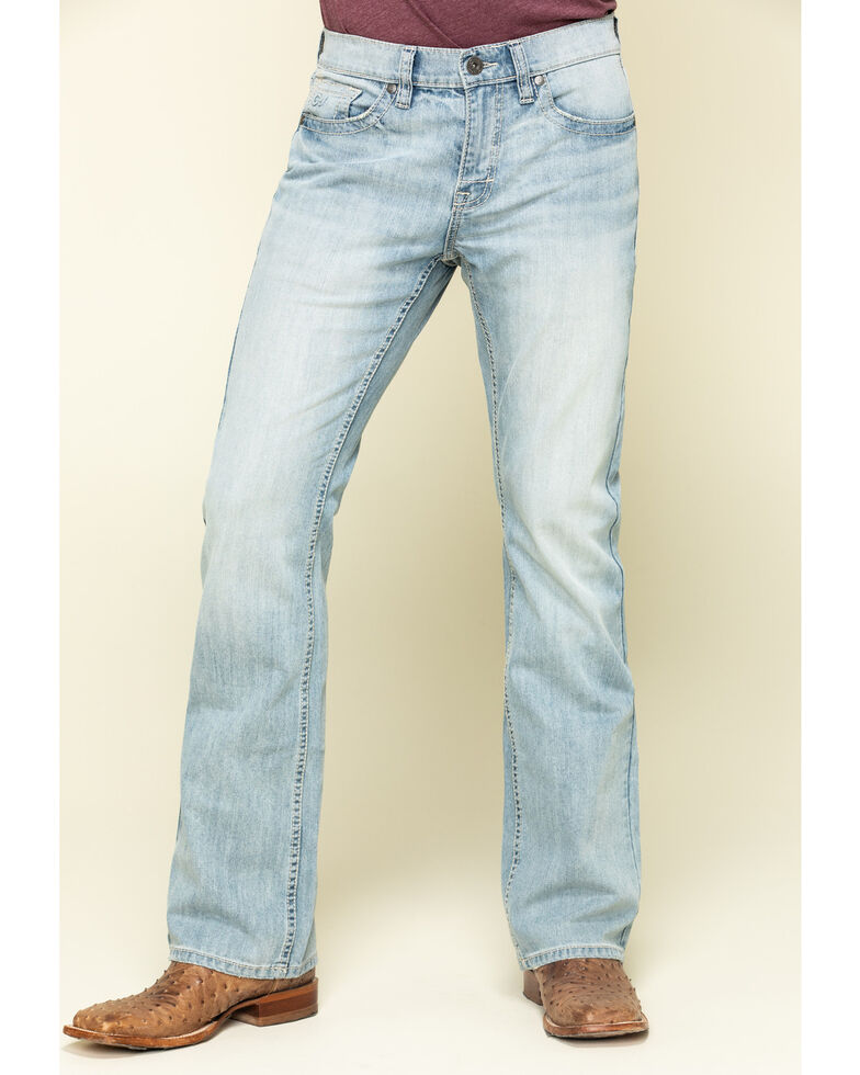Cody James Men's Marshall Light Stretch Slim Bootcut Jeans , Blue, hi-res
