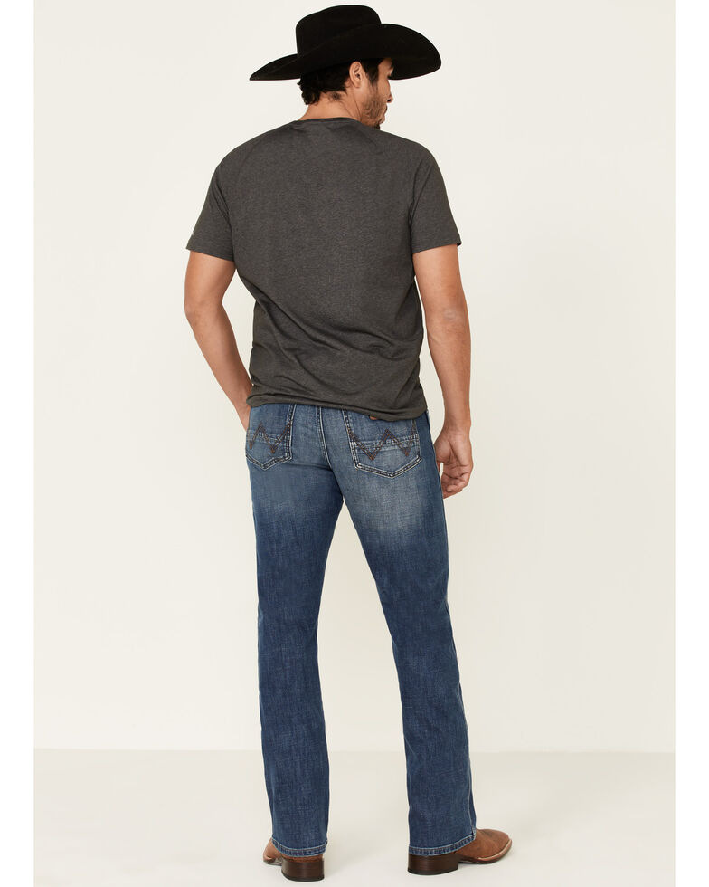 Wrangler Retro Men's Mustang Island Relaxed Bootcut Jeans , Blue, hi-res