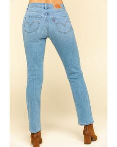 Levi's Women's Classic Light Wash Straight Jeans, Blue, hi-res