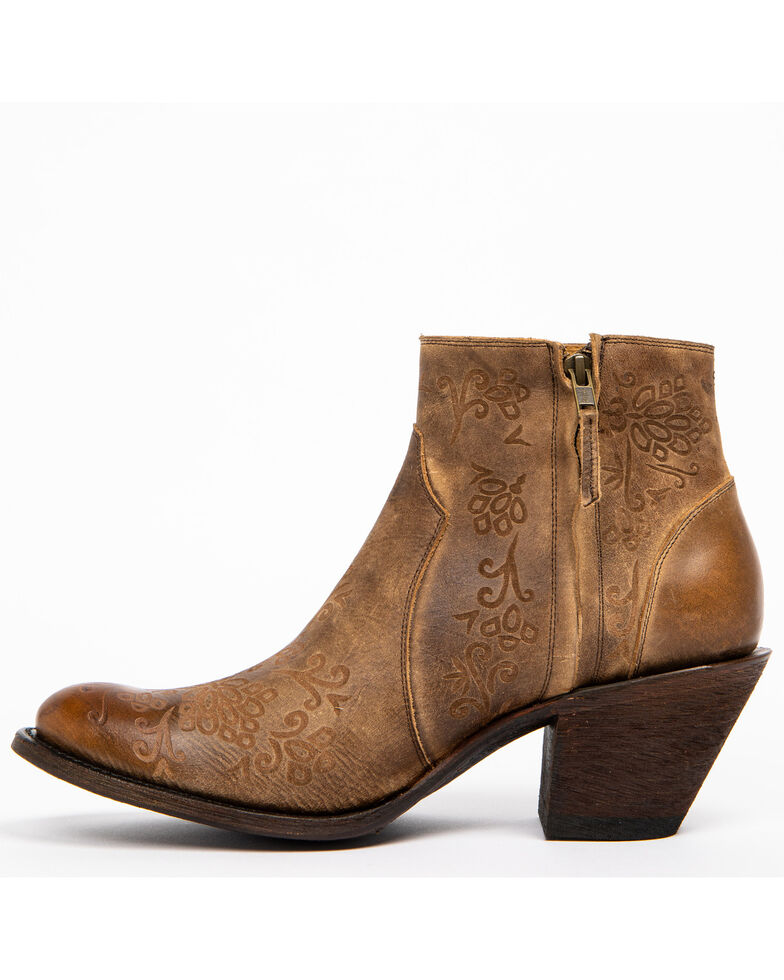 Shyanne Women's Rustic Tan Fashion Booties - Round Toe, Brown, hi-res