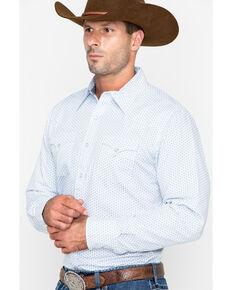 Roper Men's Original Rugged Geo Print Long Sleeve Western Shirt , Blue, hi-res