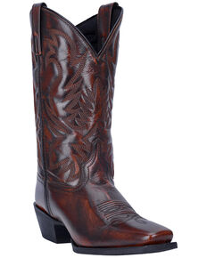 Laredo Men's Lawton Western Boots - Narrow Square Toe, Tan, hi-res