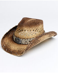 Cody James Men's Tan Carter Straw Drifter Western Hat, Tan, hi-res
