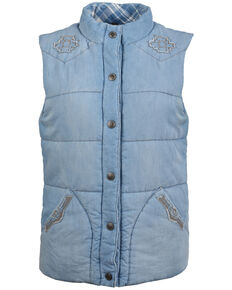 STS Ranchwear Women's Mesa Denim Vest - Plus, Indigo, hi-res