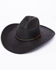 Cody James Men's Black Palm Duke Crease Cowboy Hat, Black, hi-res