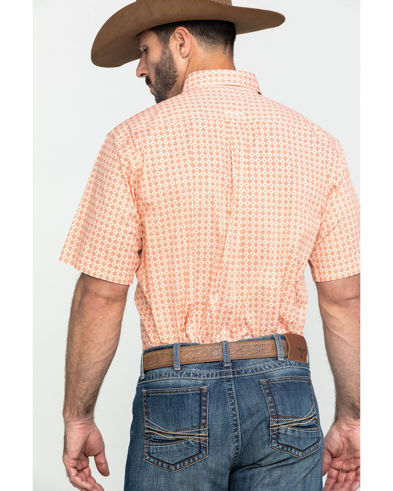 Ariat Men's Fishers Multi Geo Print Short Sleeve Western Shirt - Tall , Multi, hi-res