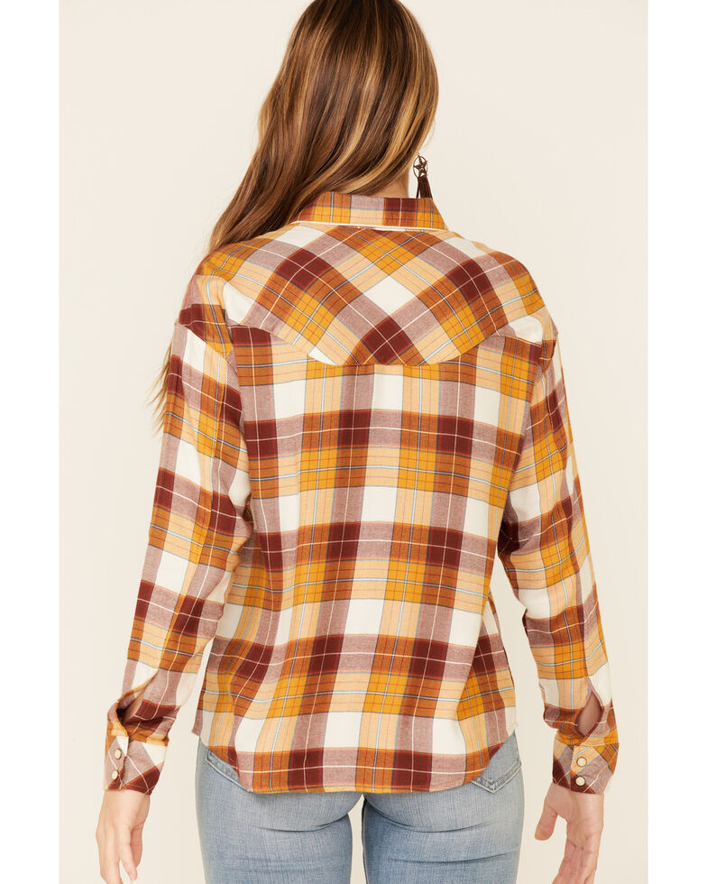 Idyllwind Women's Plaid To Meet You Western Top , Yellow, hi-res