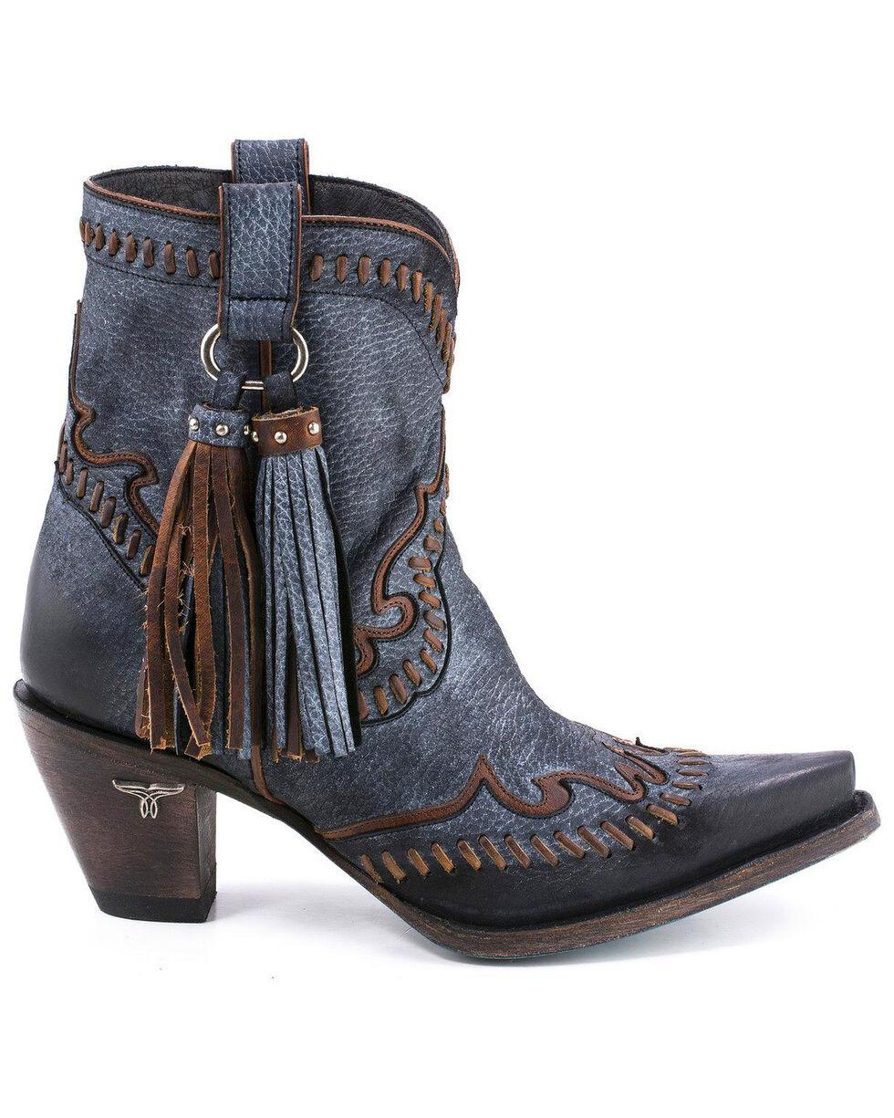Lane Women's Hoedown Booties - Snip Toe , Black, hi-res