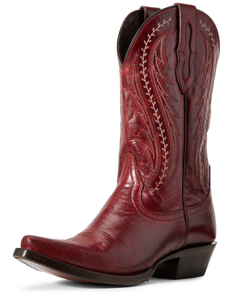 Ariat Women's Tailgate Sangria Western Boots - Snip Toe, Red, hi-res