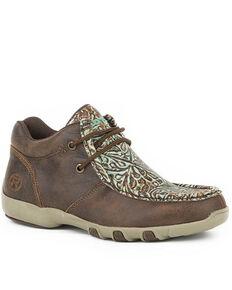 Roper Women's Vintage Brown Shoes - Moc Toe, Brown, hi-res
