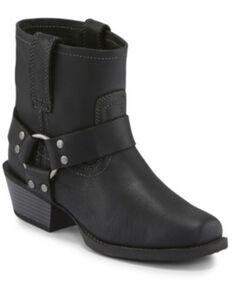 Justin Women's Black Jungle Western Booties - Snip Toe, Black, hi-res