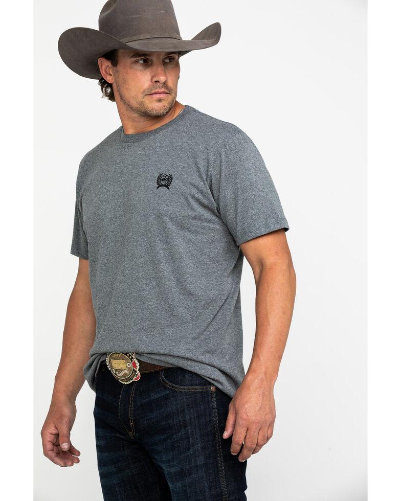 Cinch Men's Grey Logo Rodeo Brand Graphic T-Shirt , Grey, hi-res