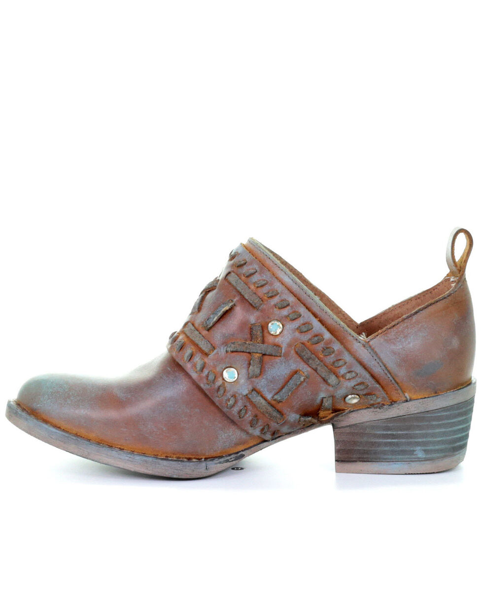 Corral Women's Maple Patina Fashion Booties - Round Toe, Brown, hi-res