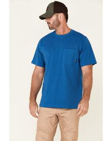 Hawx Men's Solid Blue Forge Short Sleeve Work Pocket T-Shirt - Big, Blue, hi-res