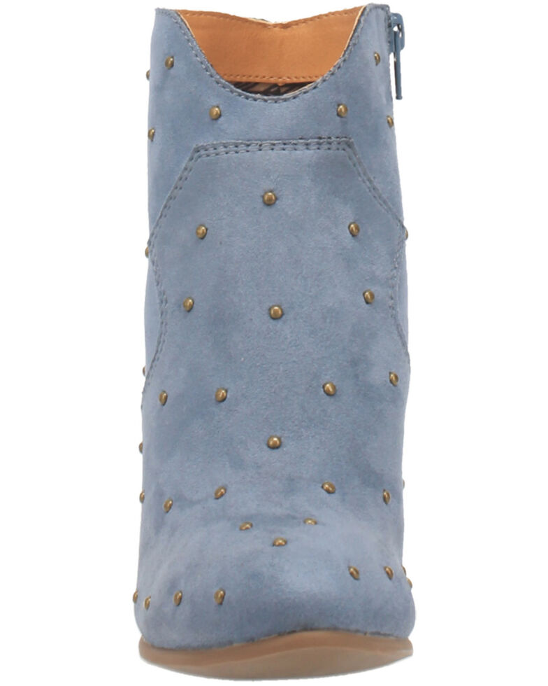 Code West Women's Big Mood Fashion Booties - Round Toe, Blue, hi-res