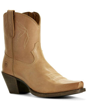 Ariat Women's Lovely Luggage Fashion Booties - Snip Toe, Brown, hi-res