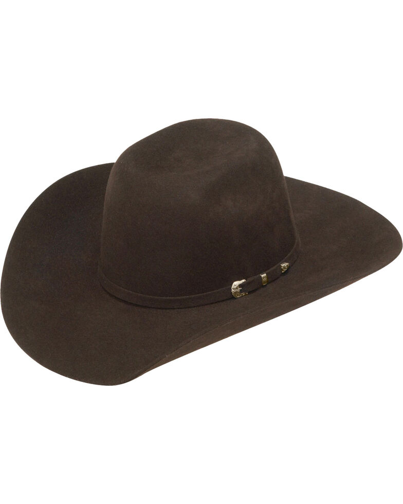 dbe593d3602 Ariat Boys  Chocolate Colored Wool Felt Cowboy Hat - Country Outfitter