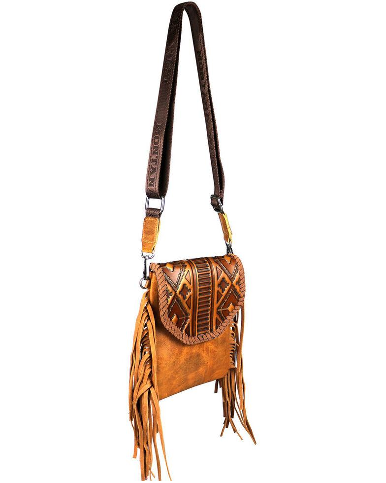 Montana West Women's Ellie Embossed Crossbody Bag, Brown, hi-res