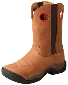 Twisted X Women's All Around Western Work Boots - Soft Toe, Tan, hi-res